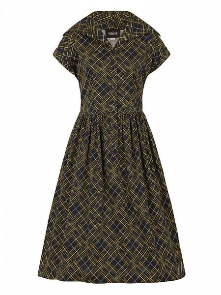 Collectif Kleid Judy Hatch Check Swing Dress
