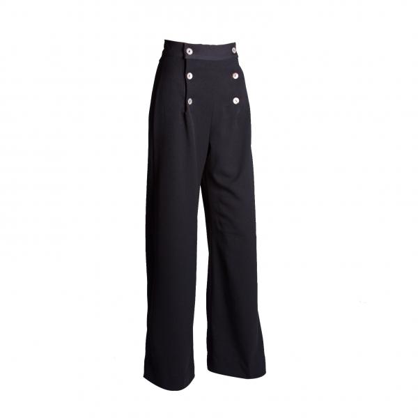 House of Foxy Hose 1930s Sailor Pants schwarz