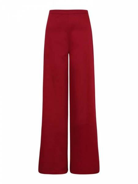 Collectif Hose Opal Cotton Trousers weinrot