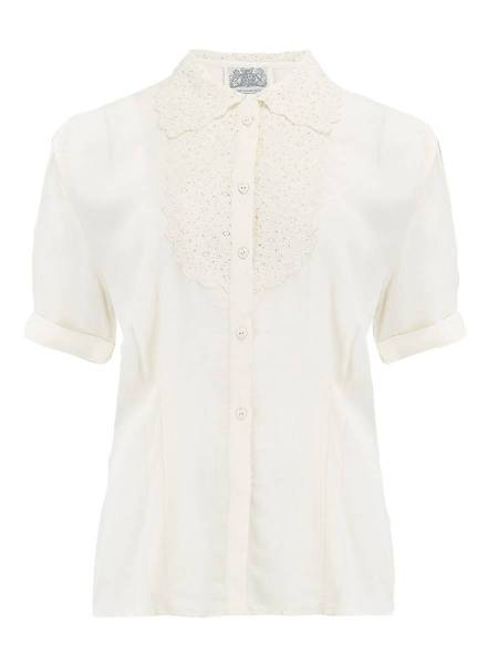 Seamstress of Bloomsbury Bluse Lacey creme