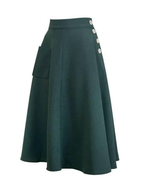House of Foxy Rock 1940s Whirlaway Skirt Bottle Green