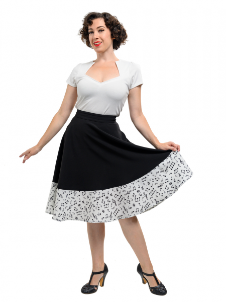Steady Clothing Rock Music Note Thrills Skirt
