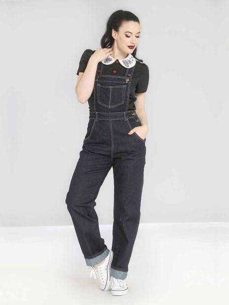 Hell Bunny Jeans Latzhose Elly May Dungarees