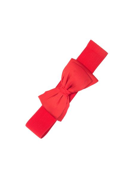 Banned Stretchgürtel Bella rot mit Schleife