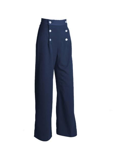 House of Foxy Hose 1930s Sailor Pants dunkelblau