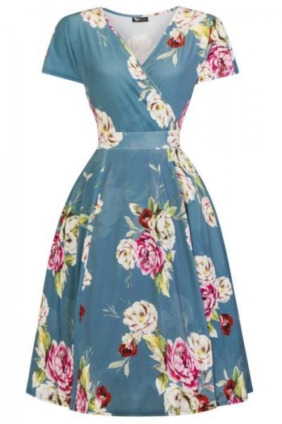 Lady V London Kleid Lyra Forbury Garden Plussize