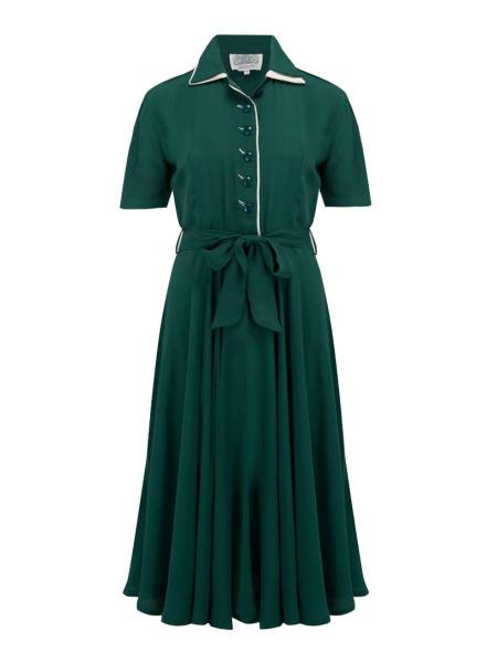 Seamstress of Bloomsbury Kleid Mae dunkelgrün