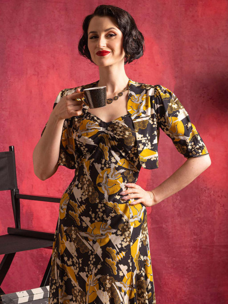 What Katie Did Kleid Tuppence 1930s Dress mit Bolero