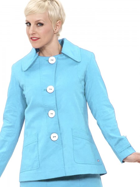 Mademoiselle Yeye Jacke Avocado Jacket Summer Blue hellblau