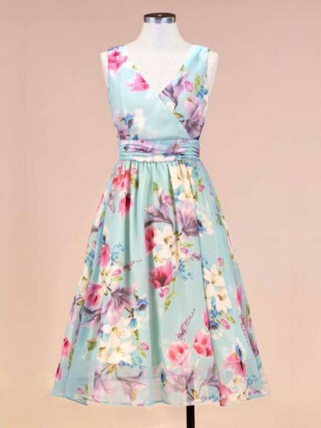 Lady V London Kleid Gracie Dress Blue Floral