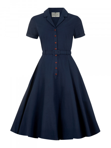 Collectif Kleid Caterina Swing Dress Navy