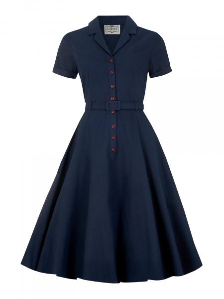 Collectif Kleid Caterina Swing Dress Navy
