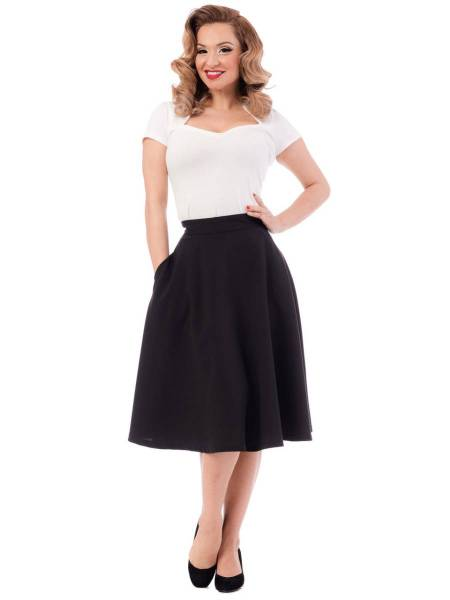 Steady Clothing Rock High Waist Thrills Skirt schwarz