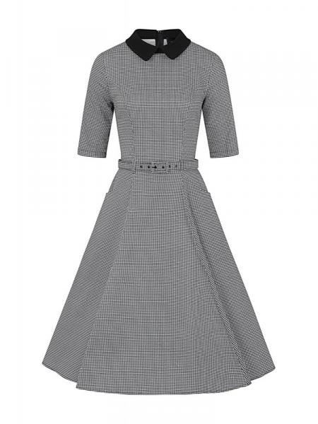 Collectif Kleid Winona Houndstooth Swing Dress kariert