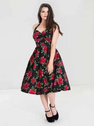 Hell Bunny Neckholder Petticoatkleid Cannes 50s Dress