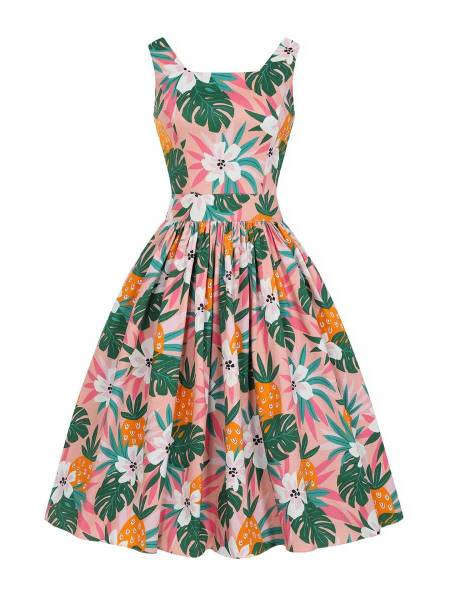 Lady V London Kleid Dirdle Dress Hawaiian