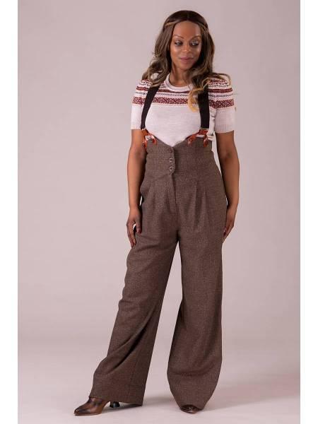 Emmy Hose Miss Fancy Pants Brown Salt and Pepper braun