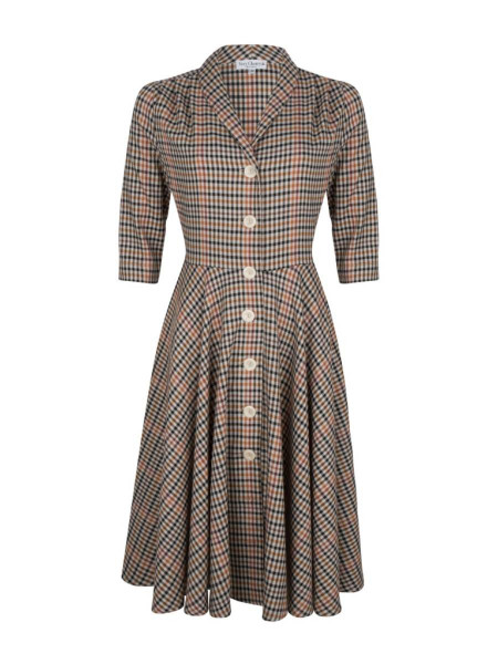 Very Cherry D'Laine Dress Nottingham braun kariert