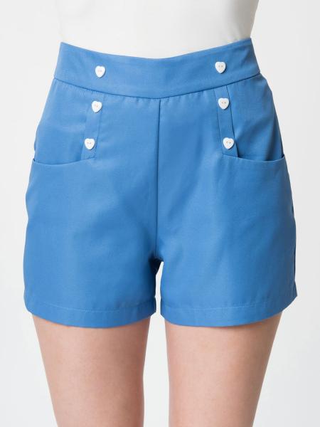 Unique Vintage Shorts Sailor Debbie hellblau