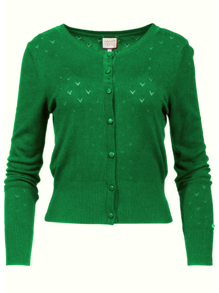 Mademoiselle Yeye Cardigan Some Cosiness grün
