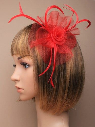 Fascinator Eleanor rot