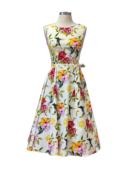 Lady V London Kleid Hepburn Dress Hummingbird