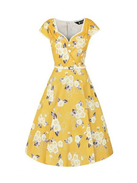 Lady V London Kleid Isabella Tuscan Sun