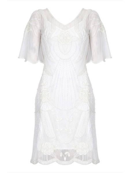 Gatsbylady 20er Jahre Kleid Kate weiß