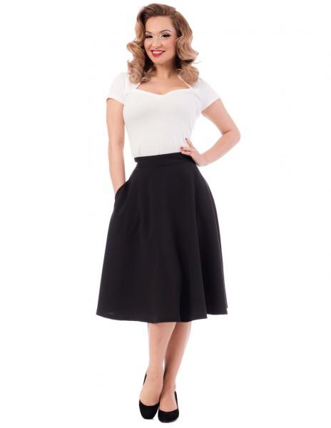 Steady Clothing Rock High Waist Thrills Skirt schwarz