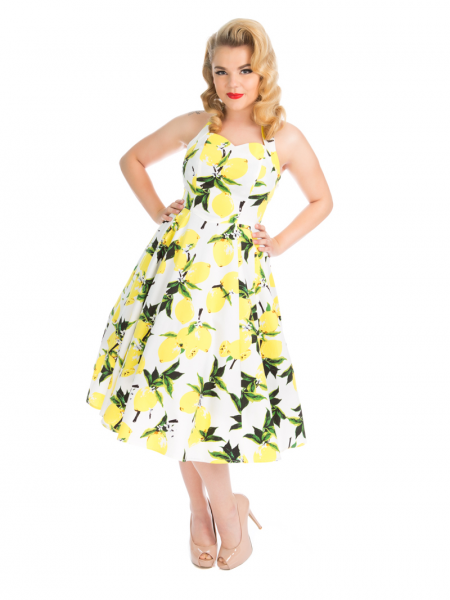Hearts and Roses Petticoatkleid Lemon Print Swing Dress