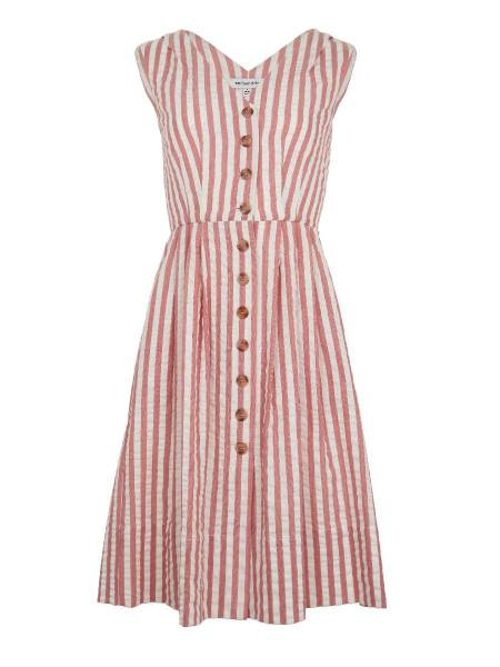 Emily & Fin Kleid Scarlett Riviera Stripe weiß rosa