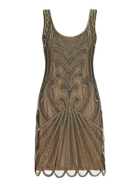 Gatsbylady 20er Jahre Kleid Francesca gold schwarz
