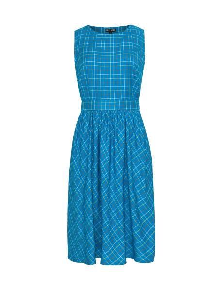 Pretty Vacant Kleid Lauren Turquoise Check