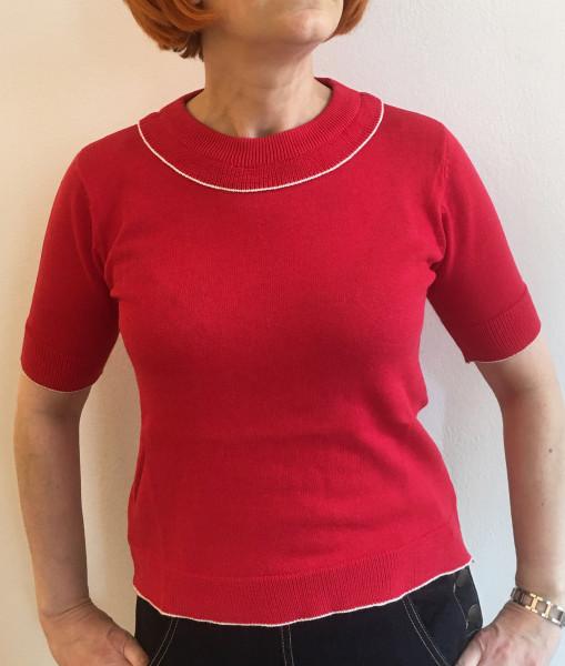 Pretty Vacant Pullover Fenella Red Crew
