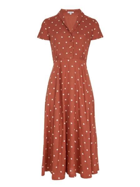 Emily & Fin Kleid Adele Desert Rose Dot Midi Dress