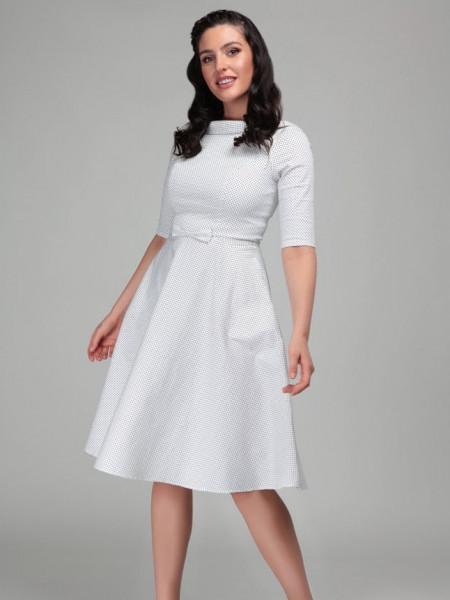Collectif Kleid Bertha Mini Polka Swing Dress