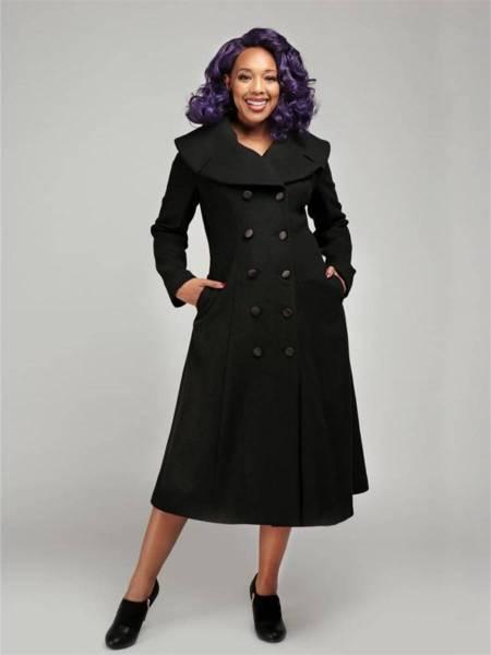 Collectif Mantel Eileean Coat schwarz