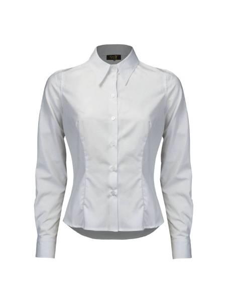 House of Foxy Hemdbluse Spearpoint Collar Shirt weiß