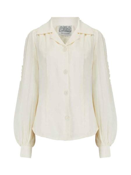 The Seamstress of Bloomsbury Bluse Poppy Blouse Cream