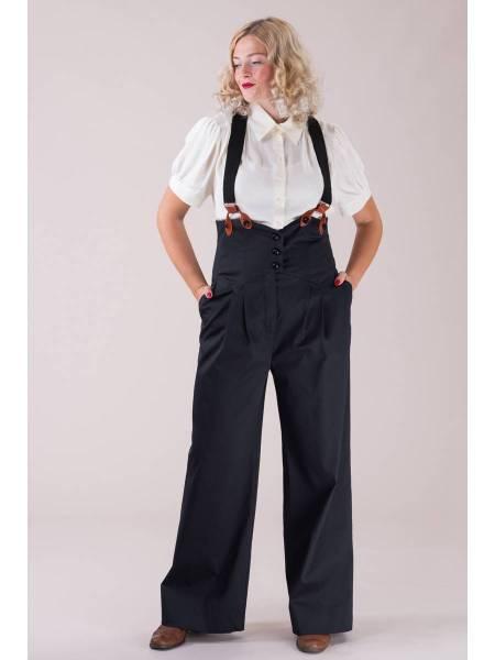 Emmy Hose Miss Fancy Pants Black Rib Weave
