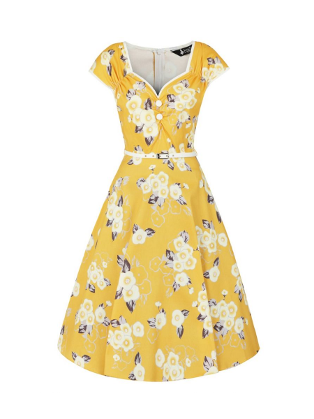 Lady V London Kleid Isabella Tuscan Sun