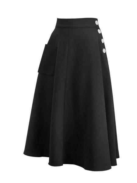 House of Foxy Rock 1940s Whirlaway Skirt schwarz