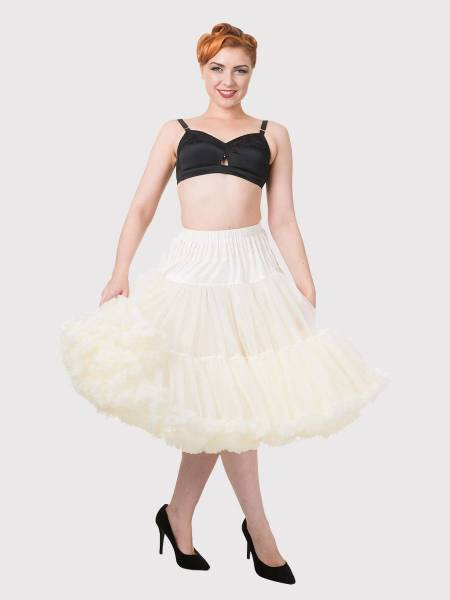 Banned Lifeforms Petticoat 66 cm ivory creme 26 inch