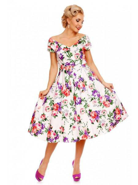 Dolly & Dotty Kleid Lily White Floral