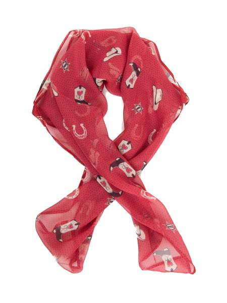 Unique Vintage Tuch Cowgirl Print rot
