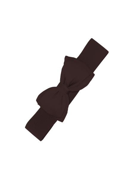 Banned Stretchgürtel Bella dunkelbraun mit Schleife