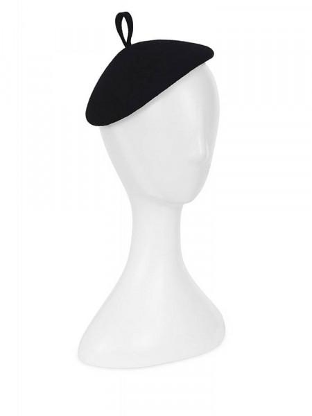 Collectif Hütchen Dita Mini Beret schwarz