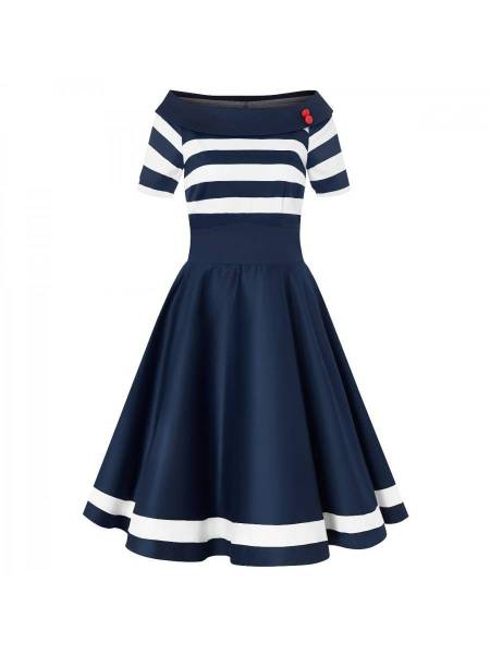 Dolly & Dotty Kleid Darlene Nautical blau weiß