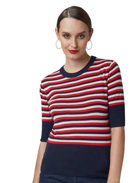 Mademoiselle Yéyé Stricktop I Got Stripes blau weiß rot