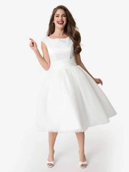 Unique Vintage Brautkleid Holly weiß mit Tüllrock
